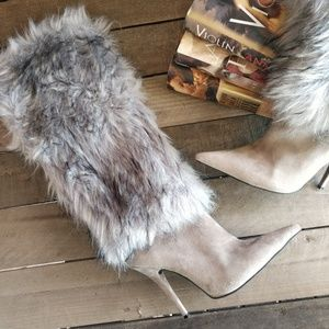 JEFFREY CAMPBELL Vedet Faux Fur Stiletto Boots